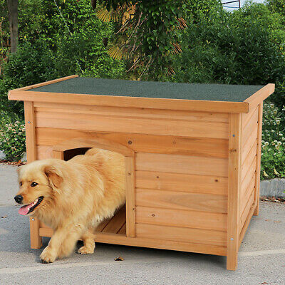 $114.96 • Buy Extra Large Dog House Pet Wood Shelter Kennel Weather Resistant Home Outdoor Hut