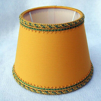 Lampshade Fabric Yellow 16 CM With Cord IN Lace Chandelier • 16.72£