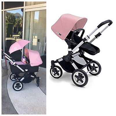 $500 • Buy Bugaboo Buffalo With Stroller And Bassinet (pink)