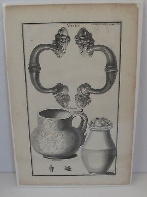 £21.58 • Buy Antique 18th Century French Engraving  Vases