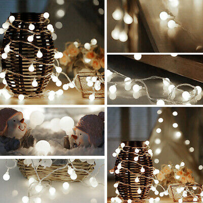 Electric Plug-in 100/200LED Berry Ball Xmas Bulb Fairy String Lights Outdoor/In • 12.95£