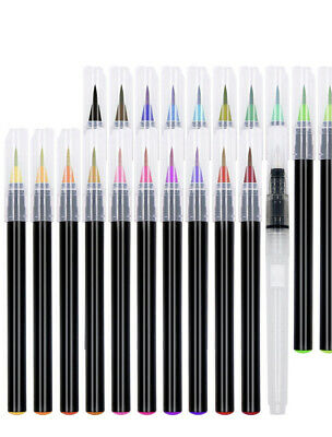 $22.99 • Buy 21 Watercolor Brush Pens - Soft Watercolor Markers With Flexible Brush Tips - Mu