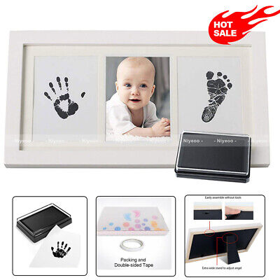 £12.89 • Buy Baby Hand & Foot Print Clay Cast Kit & 1 Photo Picture Frame Christening Gift