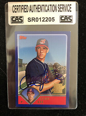 $54.37 • Buy Cliff Lee 2003 Topps Rookie Rc Autographed Signed Auto Baseball Card Cas Coa 304