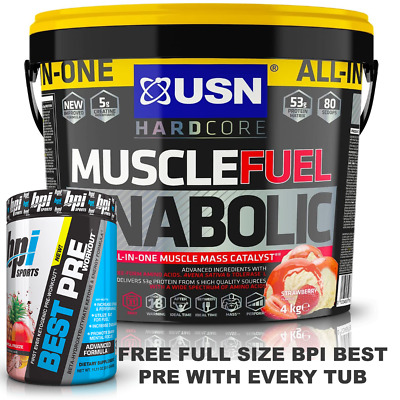 USN Muscle Fuel Anabolic All In One Protein 4kg - BPI Sport Best Pre Pack • 49.95£