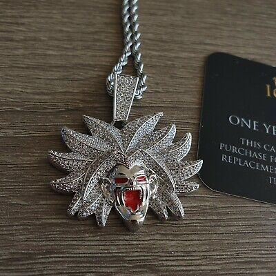 £14.99 • Buy Broly Cz Pendant Chain Necklace Iced Out Bling Jewellery Dragon Ball Z Goku