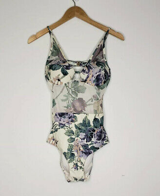 $199.99 • Buy Zimmermann Lucia Mesh One-Piece Swimsuit Floral Size 6 US Womens