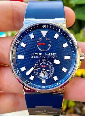 £4500 • Buy ULYSSE NARDIN Maxi Marine Blue Wave Watch 263-68 Limited Edition 1864 Made ONLY