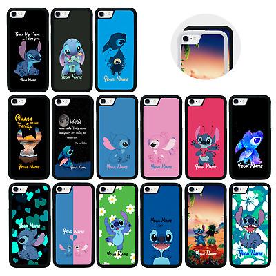 LILO STITCH Case Personalised Custom Name Cover For IPhone 5 5s SE 6 6s 7 8 PLUS • 5.99£