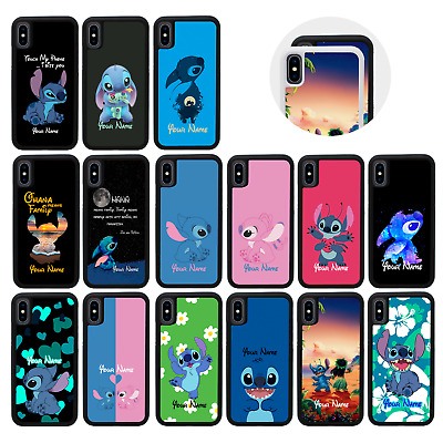 STITCH Case Personalised Custom Name Cover For IPhone X XS 10 11 PRO MAX XR SE • 5.99£