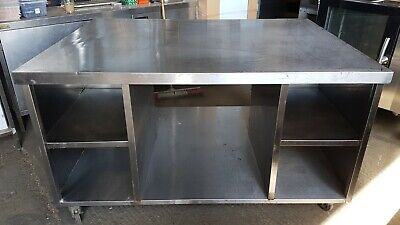 Stainless Steel Table Work Bench HENNY PENNY Top Table 112X154XH85CM • 550£
