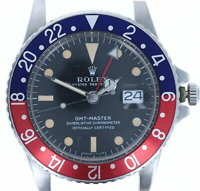 $ CDN17661.80 • Buy Rolex Stainless Pepsi 1675 Oyster Perpetual GMT-Master 40MM MK1 Long E Head Only
