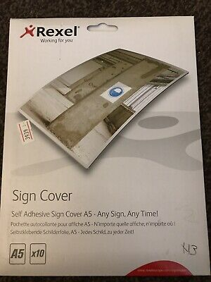 Rexel Self-Adhesive A4 Sign Signmaker Cover Pack Of 30 Laminating 2104249 Z7RS+ • 4.90£