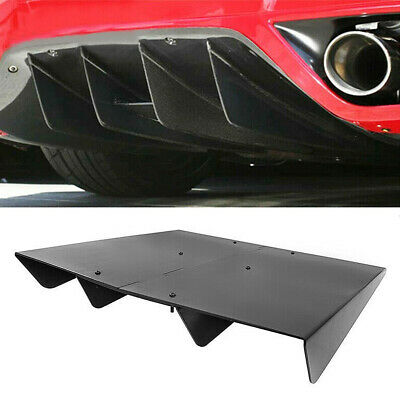 $35.45 • Buy Universal Rear Diffuser Lower Splitter Fins Underbody Assembly Black ABS