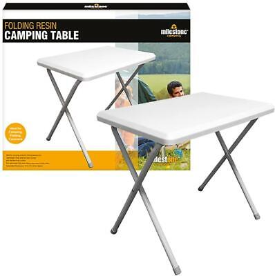 White Folding Portable Camping Picnic Outdoor Dinner Dining Table • 15.95£