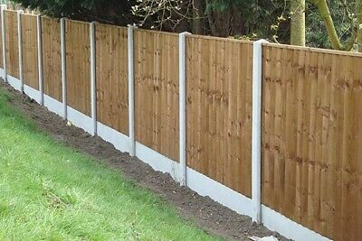 ~Fencing Fitted~ 6x5 Close Board Panel, Concrete Post, Gravel Board.  -5*rated- • 110£