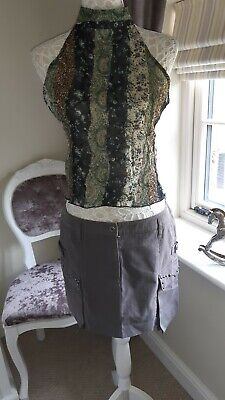Rock Chic Top And Mini Skirt Size 14 • 7£