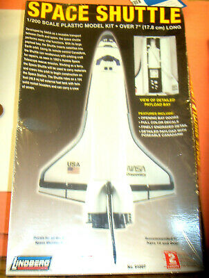 Space Shuttle  Plastic Model Kit. Lindberg 1/200 NEW SEALED FROM UK • 14.90£