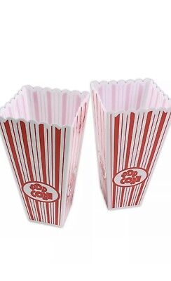 2x STRONG POPCORN BOXES Plastic Cinema Movie Theatre Holders Party Film Night • 6.50£