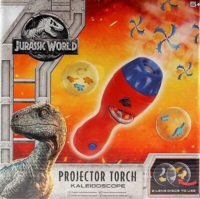 Jurassic World Projector Torch Kaleidoscope Kids Dinosaurs Shapes Childrens Toy  • 7.90£