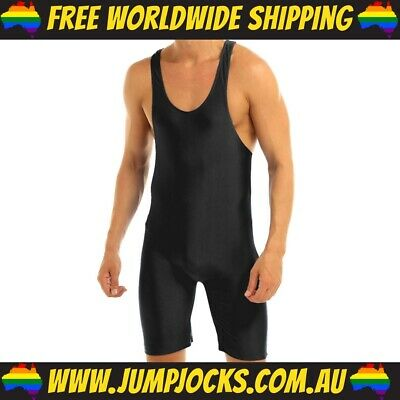 Black Lycra Bodysuit - Fetish, Wrestling, Gay *FREE WORLDWIDE SHIPPING* • 16.36£