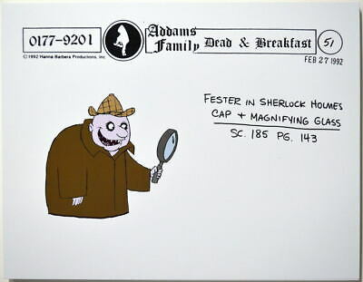 $ CDN17.61 • Buy Addams Family Dead & Breakfast MODEL SHEET - FESTER As SHERLOCK HOLMES HB 1992