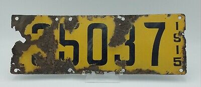 $ CDN126.67 • Buy 1915 California Porcelain License Plate Automobile Vintage Yellow Plate