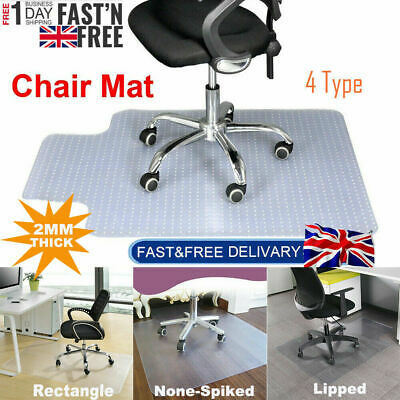 £19.49 • Buy 900x1200 Frosted Non-slip Office Chair Desk Mat Floor Carpet Protector Pvc Clear