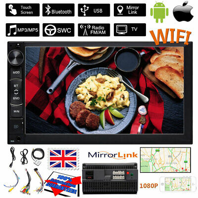 7 Inch Android 8.1 Double Din Auto GPS Navi Car Radio Stereo WiFi For BMW X3 X5 • 66.59£