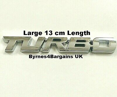Chrome Turbo Car Sticker Logo Emblem Metal 3D Badge Decals Styling UK Seller • 4.45£