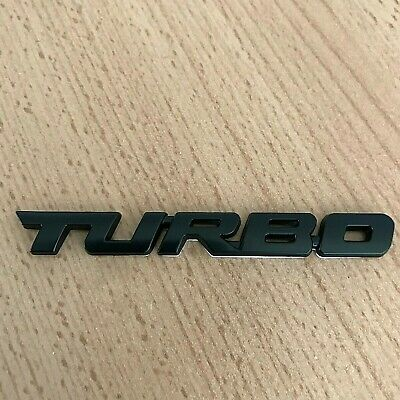 Black Turbo Car Sticker Logo Emblem Metal 3D Badge Decals Styling UK Seller • 4.45£