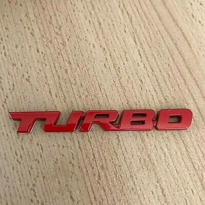 Red Turbo Car Sticker Logo Emblem Metal 3D Badge Decals Styling UK Seller • 4.45£