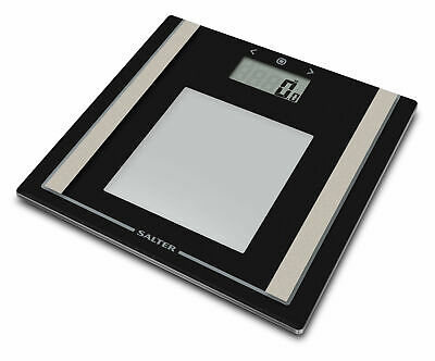 £18.99 • Buy 🔥 Salter Body Fat BMI Scales Large Black Glass Analyser Bathroom Scales 9112