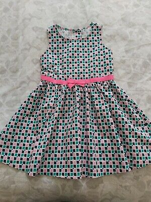 Girls Gymboree Summer Check Dress Size 6 Years Pink, Navy, Turquoise • 2.70£
