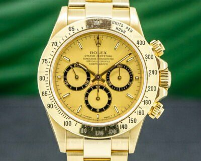 $ CDN40846.40 • Buy Rolex 16528 Daytona 16528 Zenith Gold Dial 18K / Bracelet EXCELLENT CONDITION!
