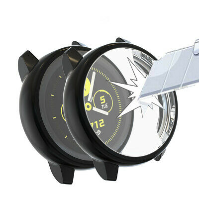 AU8.99 • Buy  For Samsung Galaxy Watch Active 1 2 40/44mm Screen Protector Cover Case Black