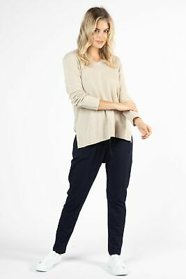 AU19 • Buy Betty Basics Zara Waffle Long Sleeve Top In Oatmeal