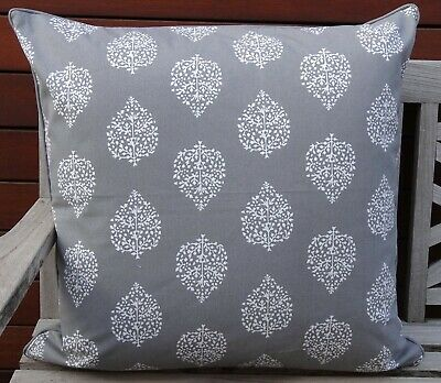 AU39.95 • Buy Grey & White Cushion Cover 60 X 60cm - 'avalon Grey' Hamptons Style, Daybed