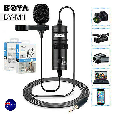 AU21.89 • Buy BOYA BY-M1 Clip-On Lavalier Microphone For IPhone Android Smartphone Canon Nikon