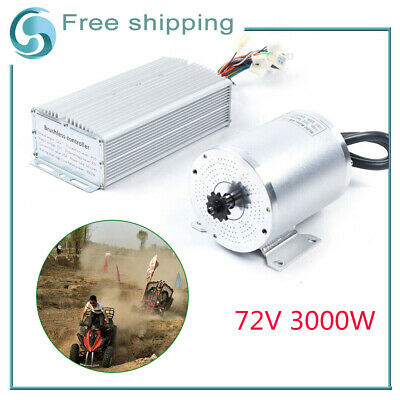$351.74 • Buy 72V 3000W 24WF Brushless Motor Kit With Controller For Electric Scooter E Bike