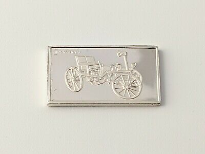 Pinches Silver Ingot 100 Greatest Cars 1875 Marcus Free UK P&P • 4.75£