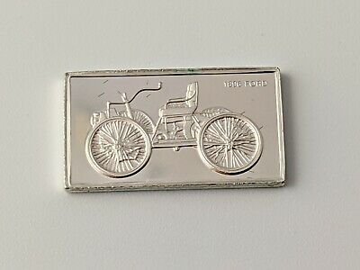 Pinches Silver Ingot 100 Greatest Cars 1896 Ford Free UK P&P • 4.75£