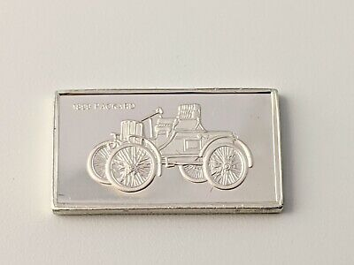 Pinches Silver Ingot 100 Greatest Cars 1899 Packard Free UK P&P • 4.75£