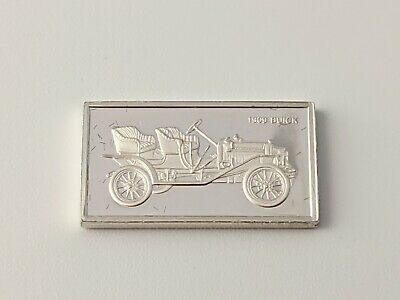 Pinches Silver Ingot 100 Greatest Cars 1909 Buick Free UK P&P • 4.75£