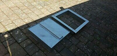 1 X Heavy Galvanized Steel Recessed Manhole Frame & Cover- 560mm X 560mm X 110mm • 22£