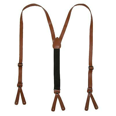 $23.26 • Buy New CTM Coated Leather Button-End 3/4 Inch Suspenders
