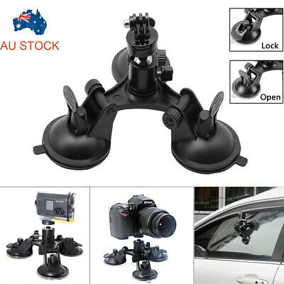 AU14.99 • Buy 360° Triple Suction Cup Car Windscreen Dash Mount For GoPro Go Pro Hero 5/4/3/2