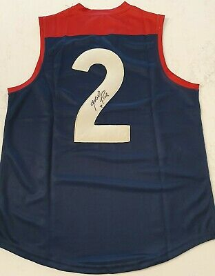 AU340 • Buy Robert Flower Signed Afl Size Large Football Guernsey Melbourne Hall Of Fame