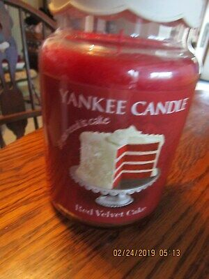 Yankee Candle - RED VELVET CAKE - 22 Oz - Eat Desserts First Line!! - RARE!! • 56.40£