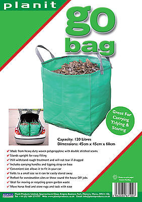 £12.50 • Buy 4 X GO BAGS - 120L Heavy Duty Garden Bag. Great For Waste & Storage. SAVE £5.90